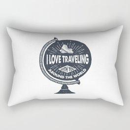 I Love Traveling Rectangular Pillow