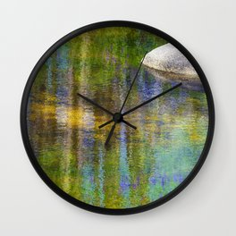 Reflections in Color Creek Wall Clock