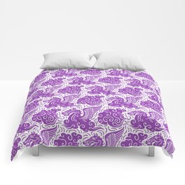 Pegasus Pattern Purple Comforters