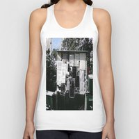 newspaper Tank Tops featuring Village Newspaper by kromovidjojo