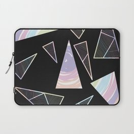 Abstract Artwork Pattern of Color Triangles on a Black Background Style #04 Laptop Sleeve