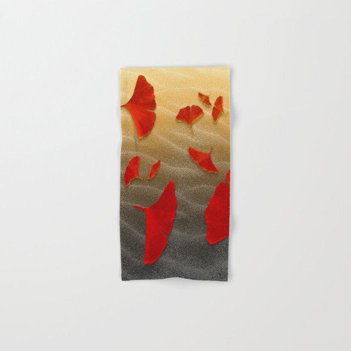 Red Ginko Hand & Bath Towel
