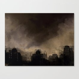 Glasgow dusk Canvas Print