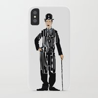 charlie chaplin iPhone & iPod Cases featuring Charlie Chaplin by A Deniz Akerman