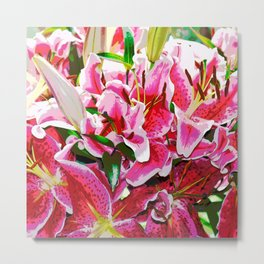 A bunch of Lilies Metal Print
