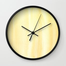 151208 7.0 Napples Yellow Deep Wall Clock
