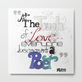 Touch Of Love Metal Print