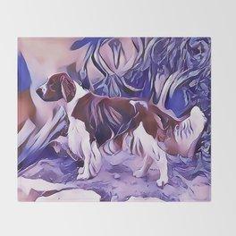 Welsh Springer Spaniel Throw Blanket
