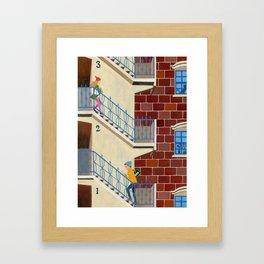 Uptown Girl & Downtown Boy Framed Art Print