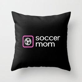Soccer Mom (Pink) Throw Pillow