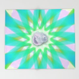 Psychedelic Bunny Throw Blanket