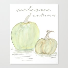 Welcome Autumn Canvas Print