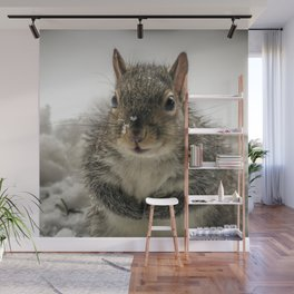 Adorable Praying Squirrel..Feed ME!! Wall Mural