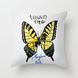 touch the kingdom tiger swallowtail butterfly Throw Pillow