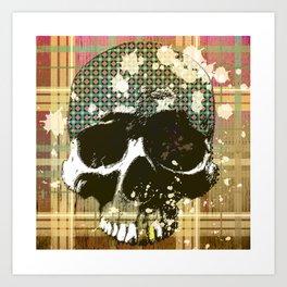 tartan skull Art Print