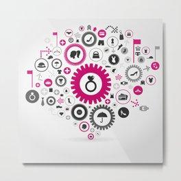 Clothes a gear wheel Metal Print