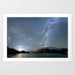 New Zealand Southern Hemisphere Skies Over Lake Wakatipu Art Print