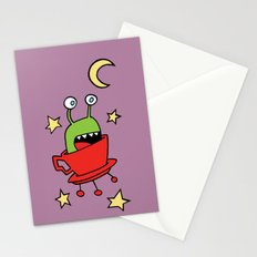 Space MiniMonsters Stationery Cards
