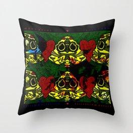 Amo y Besos Symmetrical Art Throw Pillow