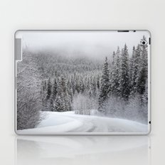 Snow Covered Road Laptop & iPad Skin