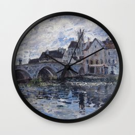 Alfred Sisley - The Bridge Of Moret  1885 Wall Clock