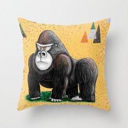 Endangered Rainforest Mountain Gorilla Throw Pillow