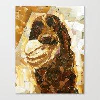 bucky Canvas Prints featuring Bucky  by Maritza Hernandez