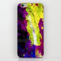 lime green iPhone & iPod Skins featuring purple & lime green abstract by Hannah