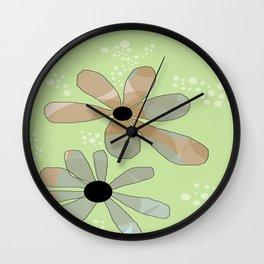 FLOWERY ANINE / ORIGINAL DANISH DESIGN bykazandholly Wall Clock