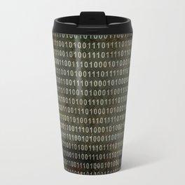 The Binary Code - Distressed textured version Travel Mug