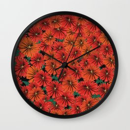 Flowers all around Wall Clock