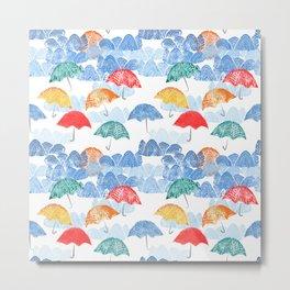 Umbrella Spring Metal Print