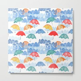 Umbrella Spring - by Kara Peters Metal Print