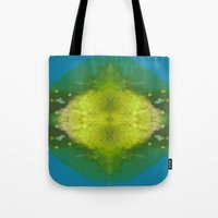 sonic Tote Bags featuring Sonic Energy by katy zimmerman