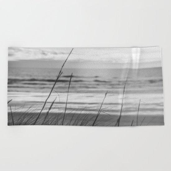 Black and White Ocean Dream Beach Towel