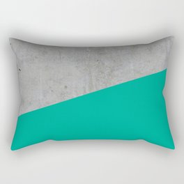 Concrete with Arcadia Color Rectangular Pillow