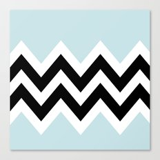 LIGHT BLUE COLORBLOCK CHEVRON Canvas Print