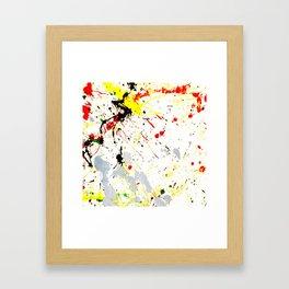 Paint Splatter Framed Art Print