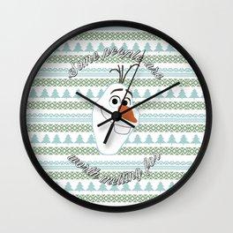 Olaf the Snowman Wall Clock