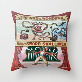 Freaks And Wonders Throw Pillow