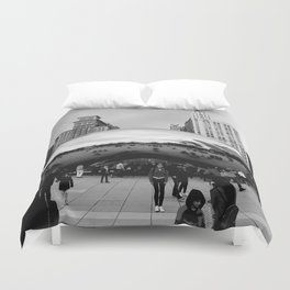 THE CHICAGO BEAN Duvet Cover