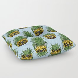 Pineapple French Bulldog Floor Pillow