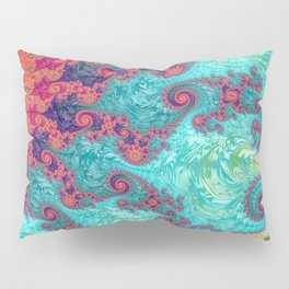 Rainbow Fractal Pillow Sham
