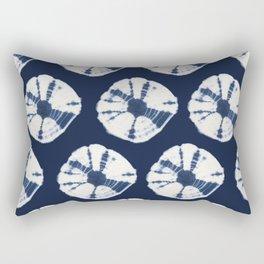 Indigo Blue Tie Dye Fantasy Rectangular Pillow