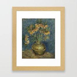 Crown Imperials in a Copper Vase Framed Art Print