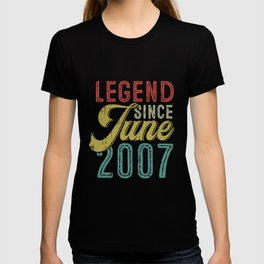 Legend Since June 2007 12th Birthday 12 Years Old Shirt T-shirt