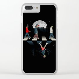 Upside Down Road Clear iPhone Case