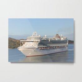 MS Azura Cruise Ship on Antigua Metal Print