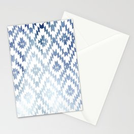 Indigo Ikat Print 3 Stationery Cards
