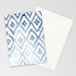 Indigo Ikat Print 3 Stationery Cards
